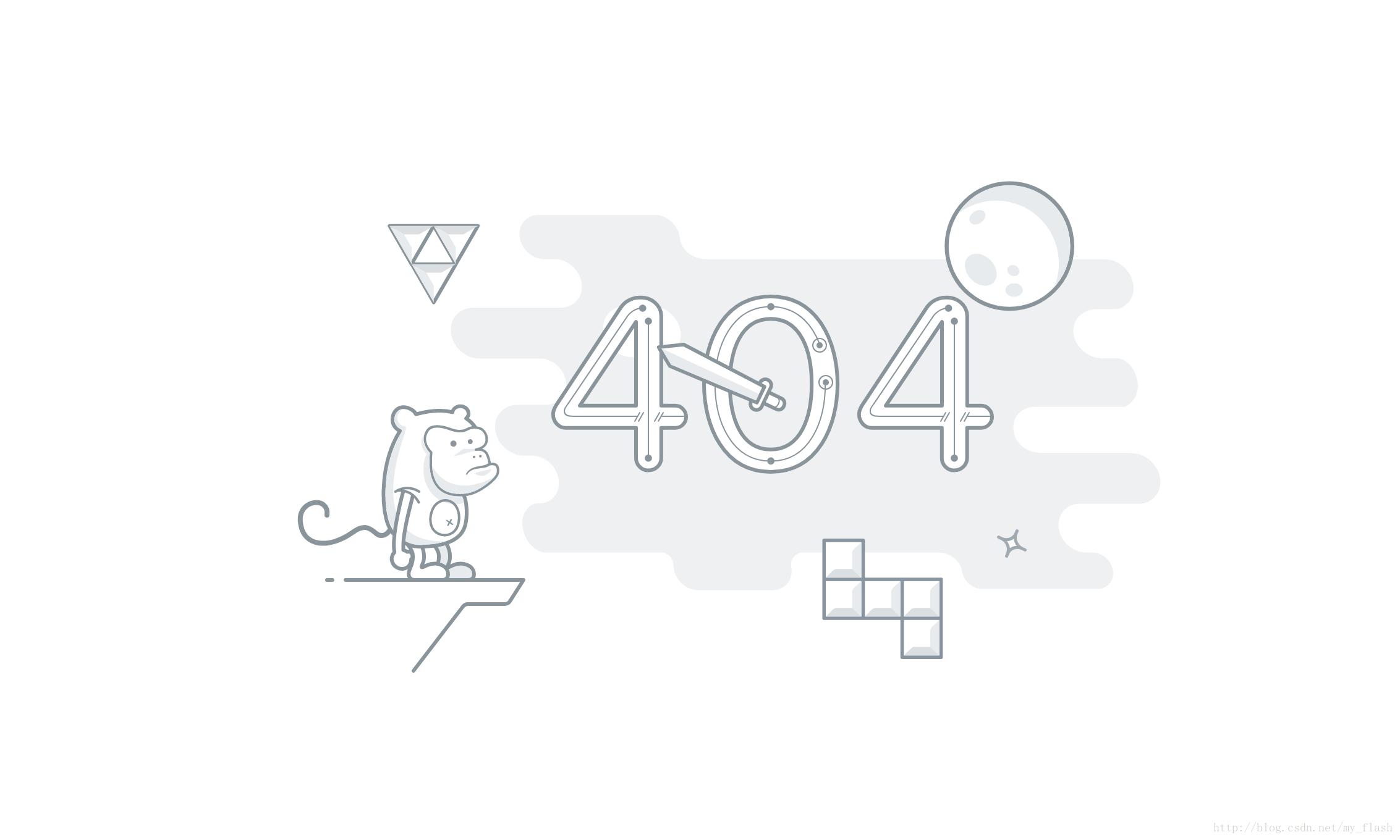 分享一个好看 404 页面(猴子动态 SVG 图)