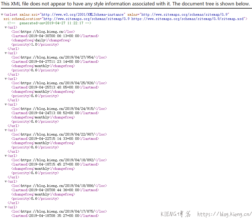 WordPress 无需插件自动生成 XML 网站地图