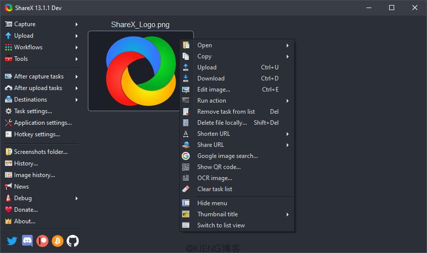安利一个非常不错的截图上传工具:ShareX